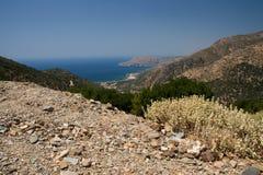 Kust van Kreta, Griekenland Stock Foto