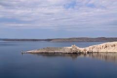 Kust van Kroatische eilanden Royalty-vrije Stock Foto's
