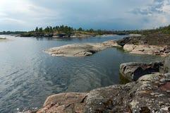 Kust van Ladoga Stock Afbeeldingen