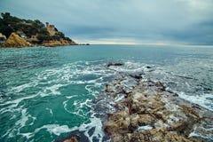Kust van Lloret de Mar stock afbeelding
