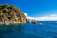Kust van Lloret de Mar Royalty-vrije Stock Foto's