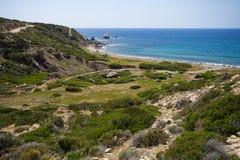 Kust van Middellandse Zee in Cuprus Royalty-vrije Stock Foto
