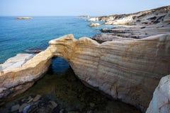 Kust van Middellandse Zee in Cyprus Stock Foto's