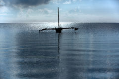 Kust van Mombasa, Kenia, oceaan, wolken, kust Royalty-vrije Stock Afbeelding