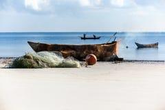 Kust van Mombasa, Kenia, oceaan, wolken, kust, Afrika, Kenia, visser, mensen, mooie hemel, Stock Foto's