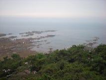 Kust van Qingdao stock foto's