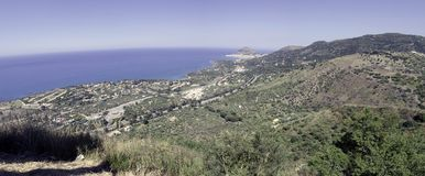 Kust van Sicilië dichtbij Palermo, Italië Stock Foto's