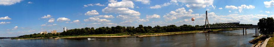 Kust van Vistula in Warshau Royalty-vrije Stock Afbeelding