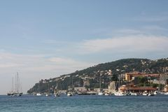 Kust in Villefrance sur le mer Stock Foto