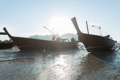 Kust Vissersboten Stock Afbeelding