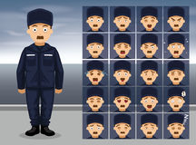 Kustbevakningen Utility Cartoon Emotion vänder mot vektorillustrationen Arkivfoto