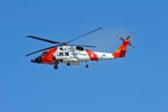 kustbevakninghelikopter oss royaltyfria bilder