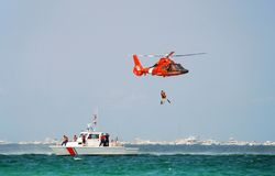 kustbevakningräddningsaktion Royaltyfria Foton