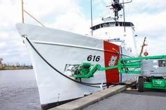 Kustbevakningskärarearbetsamhet, Wilmington, NC arkivfoton