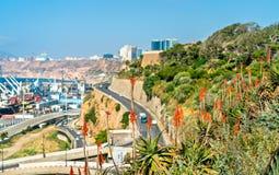 Kustboulevard in Oran, een belangrijke Algerijnse stad stock fotografie