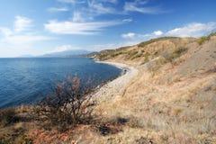 kustcrimea för höst svart hav Fotografering för Bildbyråer