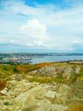 Kusten av Blacket Sea, Krim, Kerch fotografering för bildbyråer