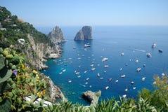 Kusten av Capri Arkivbilder