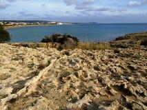 Kusten av Cypern Royaltyfri Fotografi