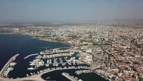 Kusten av den grekiska staden lager videofilmer