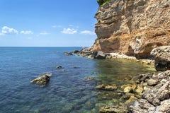 Kusten av Mattinata - Gargano - Apulia arkivbilder