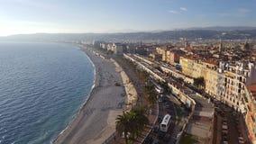 Kusten av söderna av Frankrike Cote d'Azur Arkivbilder
