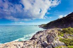 Kusten av sydliga Norge med en havsikt Royaltyfri Fotografi