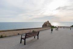 Kusten i Calella, Costa Brava, Girona arkivfoton