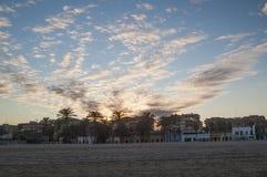 Kusten i Valenciaen Royaltyfri Foto