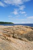 Kusten nära Tadoussac, Kanada Royaltyfria Foton