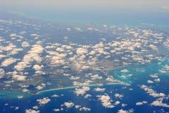 Kusten på Cancun på Yucatan Arkivfoto