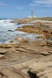 Kusten på Cabo Polonio Arkivbilder