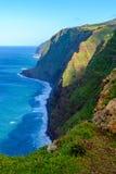 Kusten Ponta för klippan för Westermost punkt gör den färgrika Pargo, madeira Fotografering för Bildbyråer
