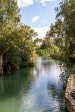 Kusten van Jordan River bij Doopplaats, Israël Royalty-vrije Stock Fotografie