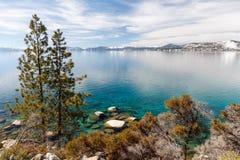Kusten van Meer Tahoe stock foto's