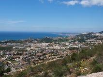 Kusten visar Benalmadena och Fuengirola Royaltyfri Bild