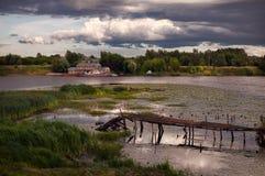 Kuster av Kostroma Ryssland royaltyfri foto