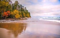 Kuster av Lake Superior arkivbild