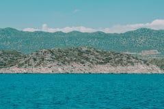 Kuster och hav av kalkon för ‹för †arkivbild