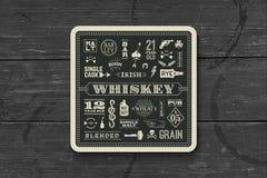 Kustfartyg för whisky- och alkoholdryck stock illustrationer