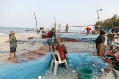 KustfiskeNakhon Si Thammarat landskap Thailand Royaltyfri Fotografi