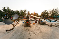 KustfiskeNakhon Si Thammarat landskap Thailand Royaltyfri Foto