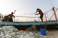 KustfiskeNakhon Si Thammarat landskap Thailand Arkivfoton