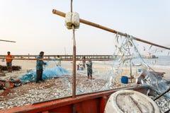 KustfiskeNakhon Si Thammarat landskap Thailand Arkivfoto