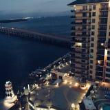 Kustflatgebouwen met koopflats in Destin Florida royalty-vrije stock afbeeldingen