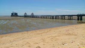 Kusthav och naturlig bakgrund för blå himmel Fotografering för Bildbyråer