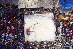Kusthi (搏斗)在加尔各答 免版税库存照片