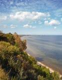 Kustklippa nära Gdynia, Polen Royaltyfri Fotografi