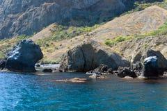 Kustklippen van de Krim Stock Afbeeldingen