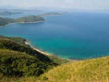 Kustlandschap in Oostelijk Hong Kong Royalty-vrije Stock Foto